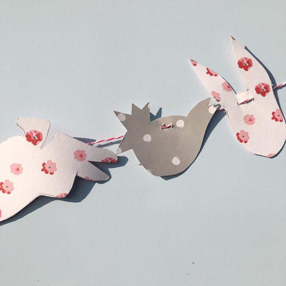 Detail Papierformen Hasengirlande