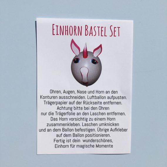 Anleitung Einhorn-Set