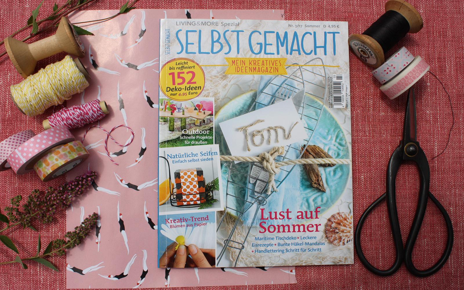 Zeitschrift Selbst Gemacht sommerlust selbst gefundene und gemachte sommerschmücker