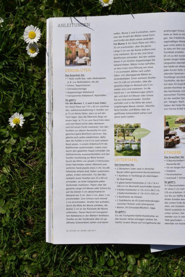 Anleitung, DIY, Dekoblumen, Living at Home, Inspiration, Gartenzeit, Hochzeit, Terrasse, Blumenliebe
