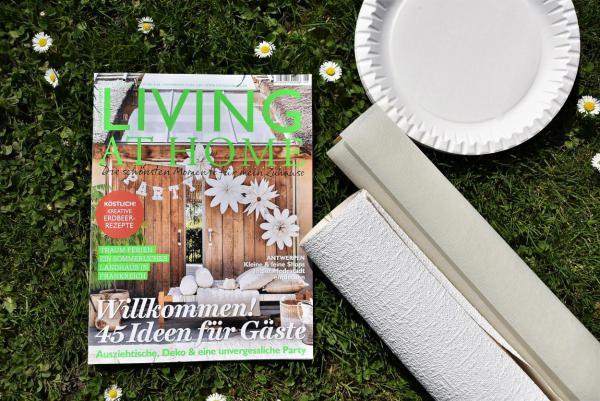 Zeitschrift, gesehen, inspiriert, nachgemacht, Vorlage, DIY, Gartenzeit, Draussensaison, Material, Partylaune