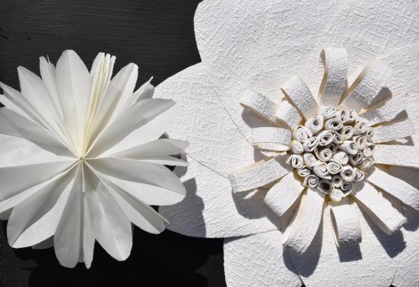 DIY, Blumengirlande, Partydekoration, selbstgemacht, Hochzeit, Garten, Dekoratin, inspiriert, gesehen in der Living at Home, Detail, schnell und preiswert
