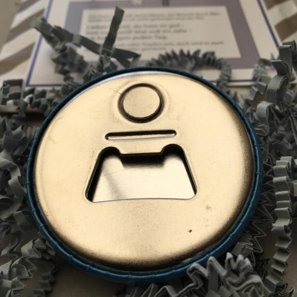 Wunderle, Detail Für Papa, Vatertag, Flaschenöffner, Kleinigkeit, Geschenkideen, gefertigt in Werkstätten für Menschen mit Behinderung