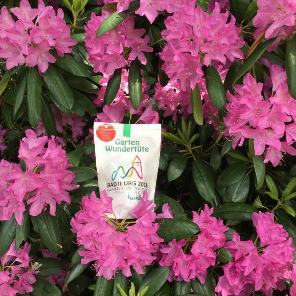Wunderle Landesgartenschau 2018 Wundertüte, Rhododendron, Blumenliebe, Gartenlust, Sommer, Pfingsten, massgesfertigt, Geschenkideen, Mitbringsel