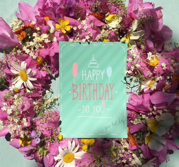 Wunderle Postkarte, Happy Birthday Postkarte, Geburtstag, Glückwünsche