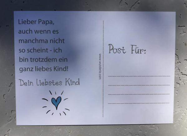 Postkarte Papa, Detail Für Papa Tüte, Wunderle, Geschenkideen, Vatertag