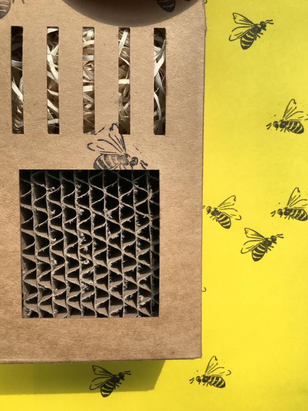 Wunderle Wildbienenhotel, Detail, Hotelbetten, Bienenrettung, Herzensangelegenheit, summ,summ,summ, im Kleinen anfangen, Naturschutz, kuschelige Betten