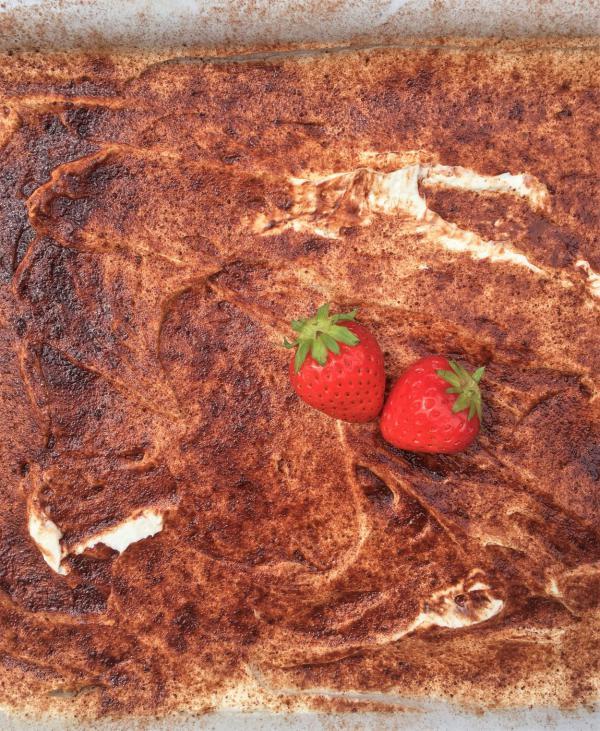 Erdbeertiramisu, lecker, Ausschnitt, Rezept, Nachtisch, Mitbringsel Sommerbuffet