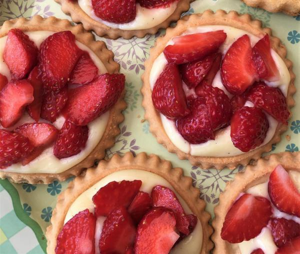 Erdbeerküchlein, lecker, so simple, Erdbeerzeit, Sonntagshöhepunkte, selbstgemacht