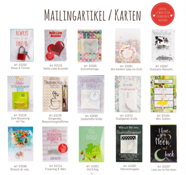 Wunderle Katalog, Shop, Detail, Mailingartikel, Karten