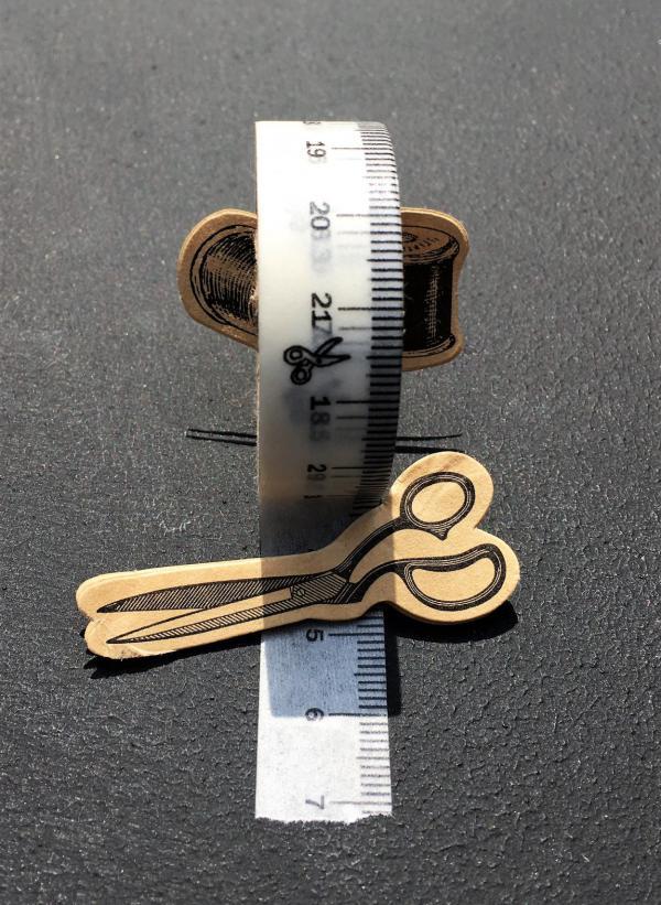 Maßband, Tape, Wasabiband mit Maßband-Druck, Schere, Garn, massgeschneidert, genau abgestimmt, Schneideraccessoires