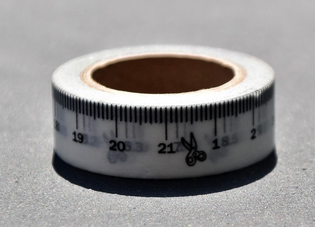 Maßband, Tape, Klebeband, massgefertigt, auf Maß, DIY, Bastelmaterial