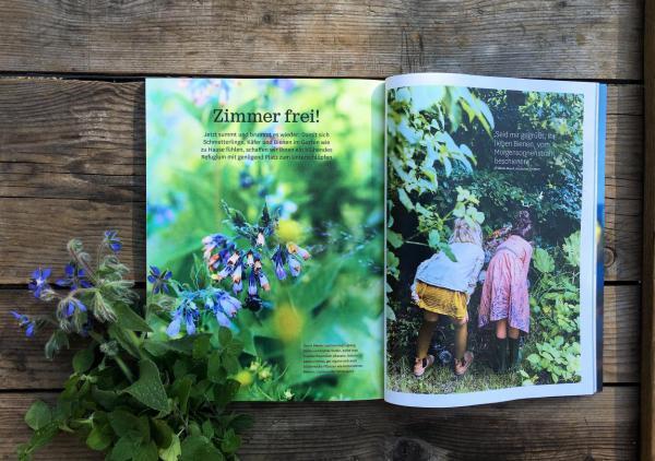 Zeitschrift, Hygge, Liebling, Zerstreuung, Sommerlust, Insektenhaus, Ferienprojekt