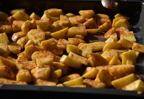 Ofenkartoffeln, lecker, gut gewürzt, Beilage, Sommerfest