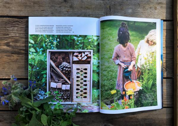 Hygge, Zeitschrift, Lesestoff, Insektenhotel, Bienenrettung, Liebling, Gartenglück, Sommerlust
