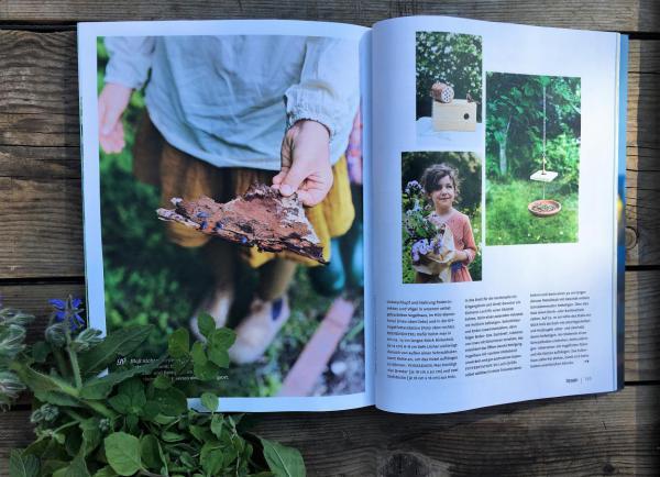 Zeitschrift, Hygge, Lesestoff, Sommerglück, Bienenrettung, Insektenhotel, Sommerglück, Gartenlust