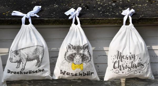 Baumwollbeutel, brandnew, Wäschebeutel, Merry Christmas, Kleinigkeit, Reiselust, Geschenkideen