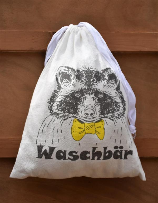 Wunderle, Baumwollbeutel, praktisch, Reiselust, Geschenkideen, Waschbär