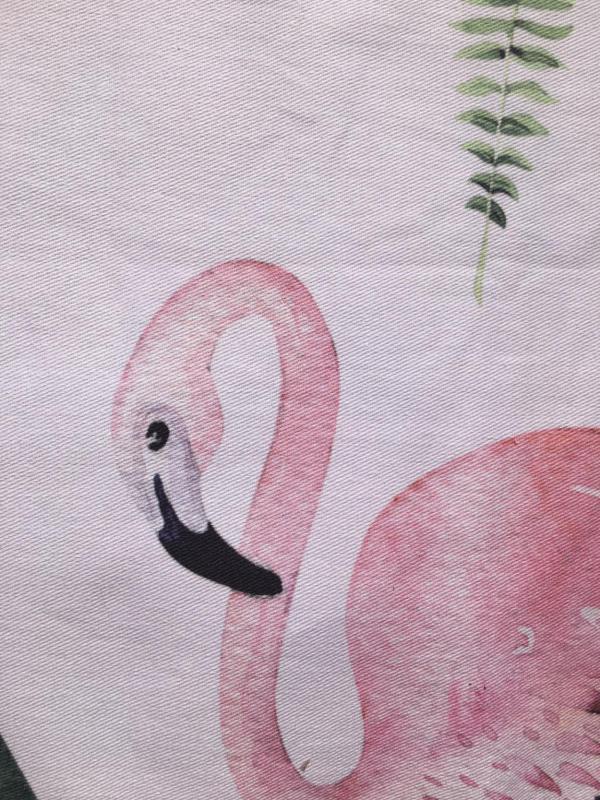 Wunderle, Geschirrtuch, Trockentuch, praktisches Werbegeschenk, indivdualisierbar, Flamingo, Kleinigkeit, Mitbringsel