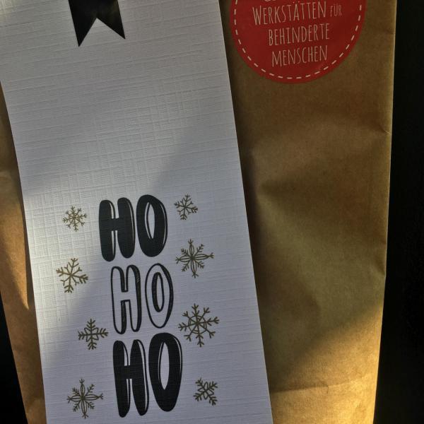 Wunderle, Wundertüte, Weihnachten, Geschenk, Mitbringsel, Kleinigkeit, HoHoHo, gefertigt in Werkstätten für behinderte Menschen