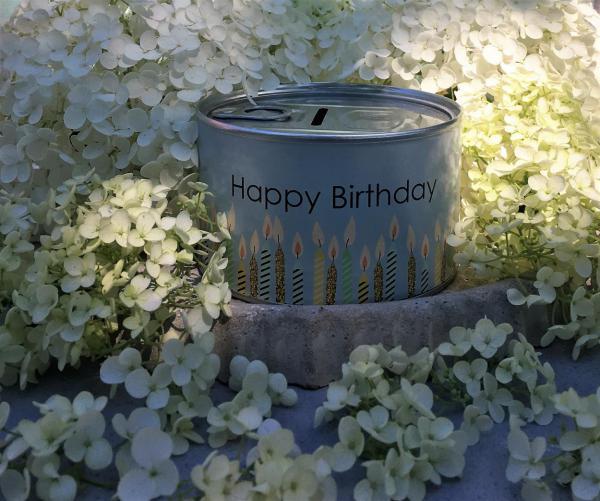 Spardose, Happy Birthday, Sommerfest, Kleinigkeit, Mitbringsel, let´s get the party started
