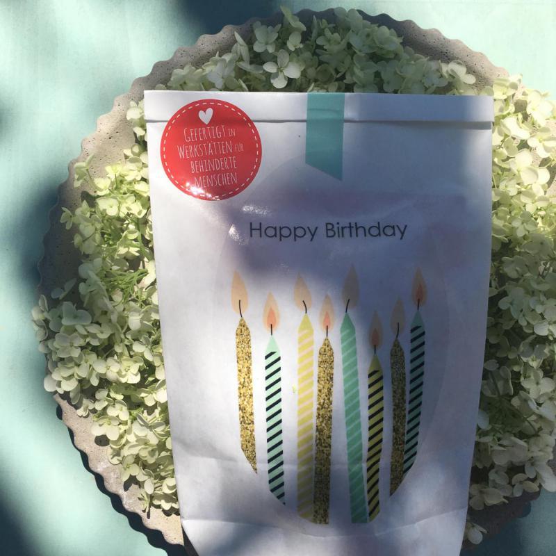 Wunderle, Wundertüte, Happy Birthday, Kerzen, Geschenkideen, Mitbringsel, Kleinigkeit, Feierlaune, Stimmungsmacher