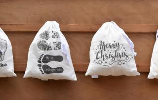 Baumwollbeutel, brandneu, Dreckwäsche, Lieblingsschuhe, Merry Christmas, Reiselust, zum verstauen, Kleinigkeit, Geschenkideen