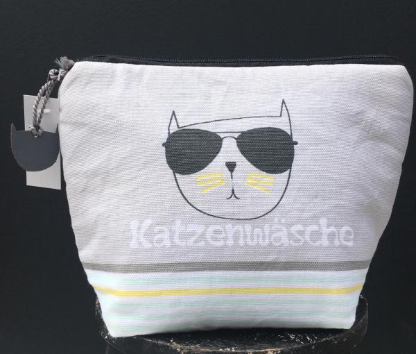 Kosmetiktasche, Täschen, Katzenwäsche, cat lover, cool cat, Reiselust, Abenteuer