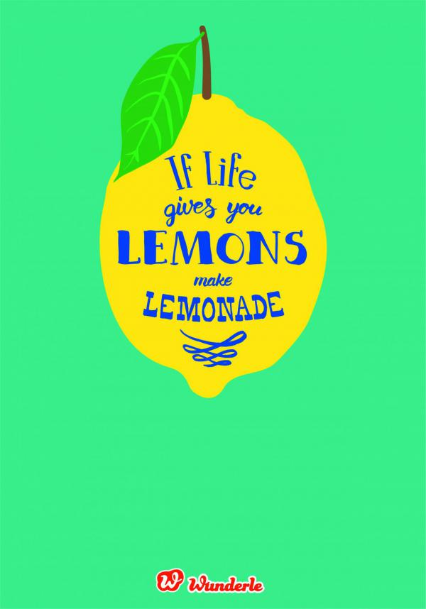 Illustration If Lifes gives you lemons..., Lettering, Free Printable, Freebie, Zitrone, Zitronenlimonade,Sommerglück, For free