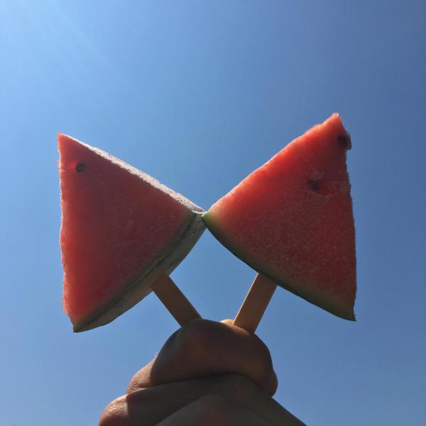 Geeiste Melone, Abkühlung, Erfrischung, Sommerglück, Hot Summer, Liebling