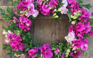 Wickenkranz, Blumenkranz, Sommerglück, La vie en rose, pink, Blumenliebe