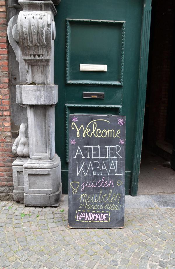 Tafel, Hinweisschild, Eingang, Antwerpen