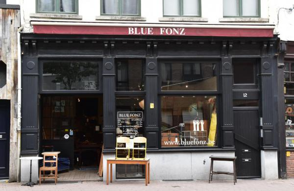 Blue Fonz Antwerpen, Geschäft, Interrieur, Charmant genutzt
