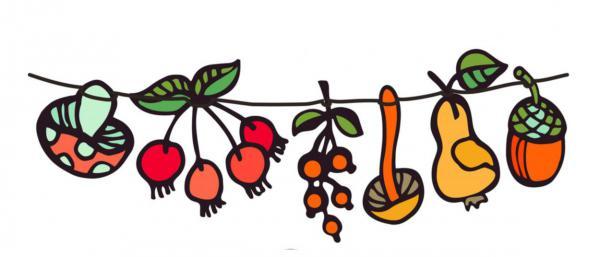 Freebie, Printable, Herbstdownload, Herbstgirlande, illustration
