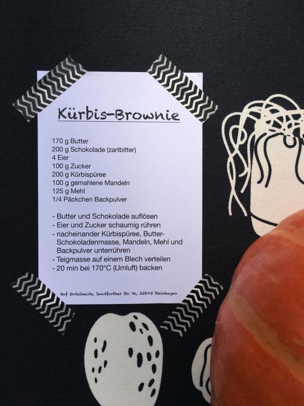 Kürbis-Brownie, Rezept, lecker, Herbstküche, Empfehlung, Kürbisparade