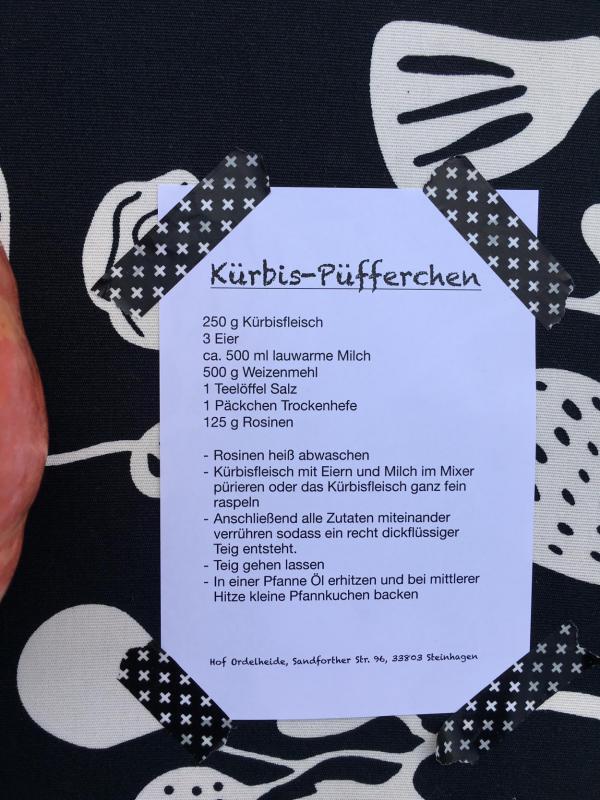 Kürbis-Püfferchen, lecker, Rezept, Empfehlung
