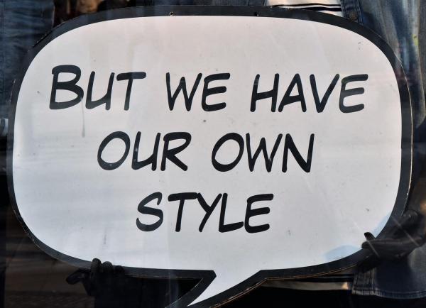Sprechblase, Comic, Schaufensterwerbung, own Style