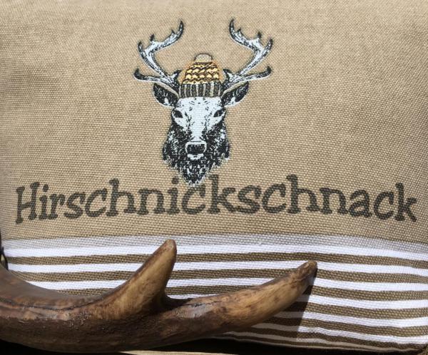 Wunderle, Kosmetiktasche, Hirschnickschnack, Geschenkideen, Detail mit Geweih