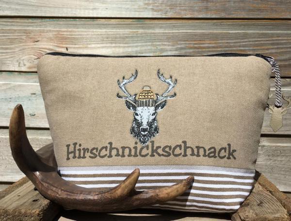 Wunderle, Kosmetiktasche, Hirschnickschnack, Hirsch, Herbst-Winter