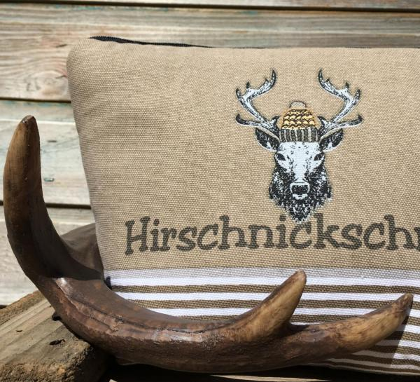 Wunderle, Kosmetiktasche, Hirschnickschnack, Geweih, Herbst-Winter