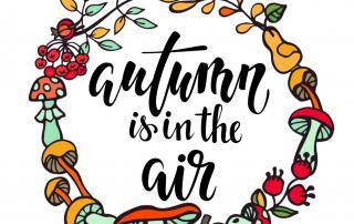 Lettering, Herbstkranz, Autumn is in the air, buntes Herbstkränzchen, Vorfreude