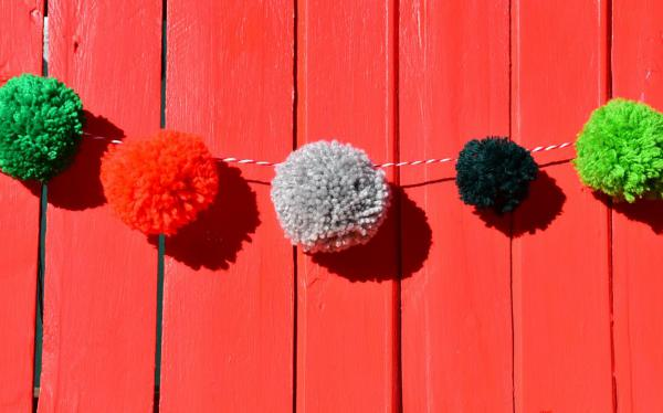 Bommelgirlande, DIY, Herbst, Runde Sache, selbstgemacht