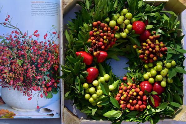 Herbst, Herbstdeko, DIY, Beeren, Kranzzeit