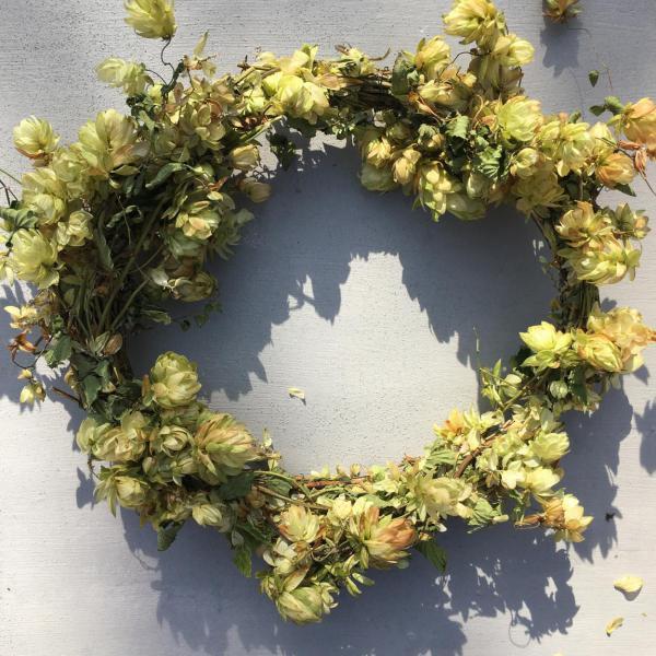Herbst, Kranz, Hopfenkranz, DIY, Natur