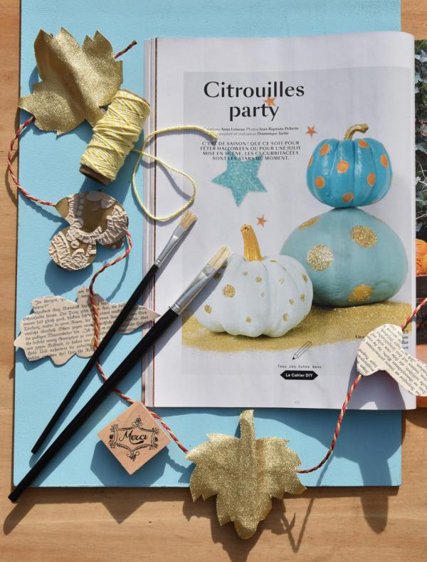 Zeitschrift, Marie Claire, Herbstideen, Bastelvorschläge, inspirierend