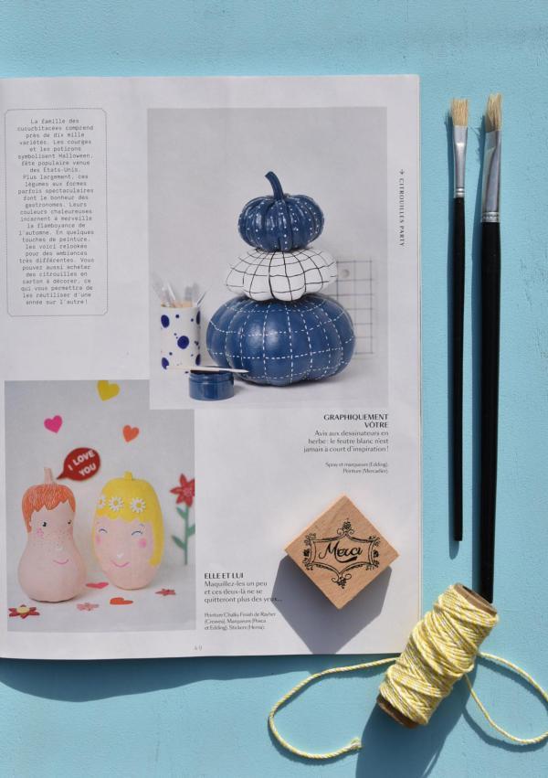 Marie Claire, Kürbisdeko, Herbst, Inspiration, blaue Kürbisse