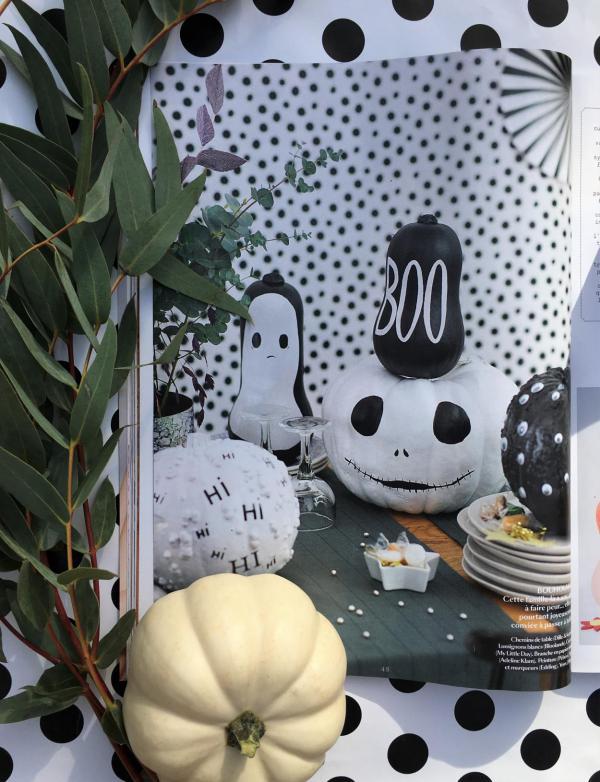 Marie Claire, Herbstideen, Hi, Boo, Halloween, schwarz-weiß, Inspiration