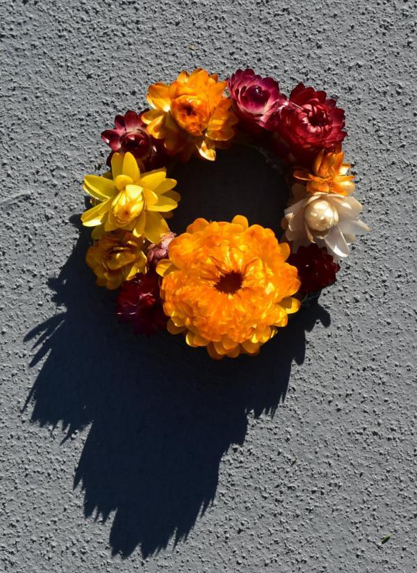 Strohblumen, Herbst, Kränze, Sommererinnerung, DIY, easy peasy