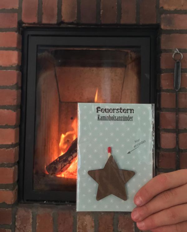 Feuerstern Kaminholzanzünder, Kachelofen, Feuer, Weihnachten, praktische Kleinigkeit, Mitbringsel