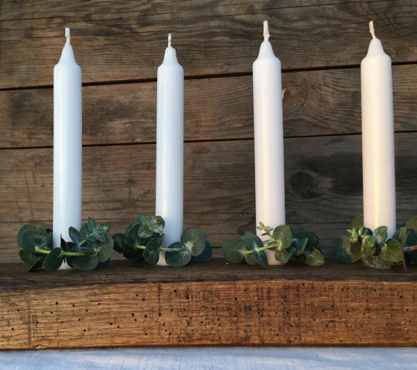 DIY, Kerzenbrett, Weihnachten, Advent, Weihnachtskranz